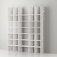 Mas 35 Servetto modular aluminium bookcase - white aluminium-white opale