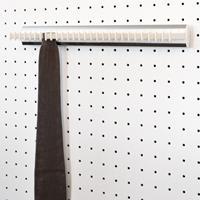 Portacravatte fisso - 28 ganci - bianco-alluminio lucido