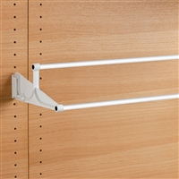 Tac - extendable wall-mounted shoe rack - white-white