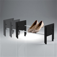 Cip stackable shoe rack black - satin aluminium
