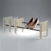 Cip stackable shoe rack beige - black tube