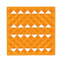 VedoNonVedo Piramide decorative element for furnishing and dividing rooms - transparent orange