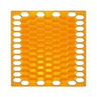 VedoNonVedo Diamante decorative element for furnishing and dividing rooms - transparent orange