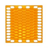 VedoNonVedo Diamante elemento decorativo per arredare e dividere gli spazi - arancione trasparente