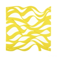 VedoNonVedo Onda decorative element for furnishing and dividing rooms - yellow