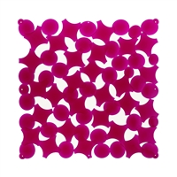 VedoNonVedo Party decorative element for furnishing and dividing rooms - transparent fuchsia