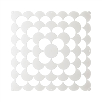 VedoNonVedo Optic decorative element for furnishing and dividing rooms - white