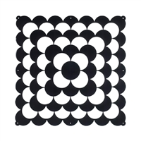 VedoNonVedo Optic decorative element for furnishing and dividing rooms - black