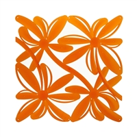 VedoNonVedo Positano decorative element for furnishing and dividing rooms - transparent orange