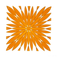 VedoNonVedo Daisy decorative element for furnishing and dividing rooms - transparent orange
