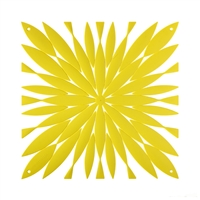 VedoNonVedo Daisy decorative element for furnishing and dividing rooms - yellow