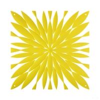 VedoNonVedo Daisy elemento decorativo per arredare e dividere gli spazi - giallo