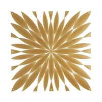 VedoNonVedo Daisy big decorative element for furnishing and dividing rooms - transparent gold