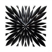 VedoNonVedo Daisy big decorative element for furnishing and dividing rooms - black