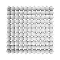 VedoNonVedo Timesquare elemento decorativo per arredare e dividere gli spazi - trasparente