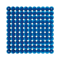 VedoNonVedo Timesquare decorative element for furnishing and dividing rooms - transparent blue