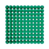VedoNonVedo Timesquare elemento decorativo per arredare e dividere gli spazi - verde trasparente