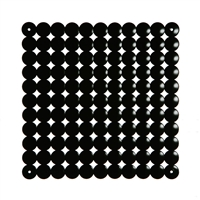 VedoNonVedo Timesquare decorative element for furnishing and dividing rooms - black