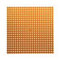 VedoNonVedo Timesquare big decorative element for furnishing and dividing rooms - transparent orange