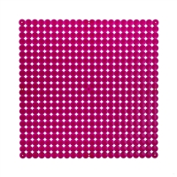 VedoNonVedo Timesquare big decorative element for furnishing and dividing rooms transparent fuchsia