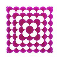 VedoNonVedo Optic decorative element for furnishing and dividing rooms - transparent fuchsia