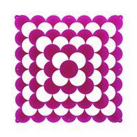 VedoNonVedo Optic elemento decorativo per arredare e dividere gli spazi - fucsia trasparente