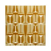 VedoNonVedo Perlage decorative element for furnishing and dividing rooms - transparent gold