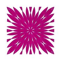VedoNonVedo Daisy decorative element for furnishing and dividing rooms - fuchsia transparent