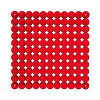 VedoNonVedo Timesquare elemento decorativo per arredare e dividere gli spazi - rosso