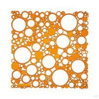 VedoNonVedo Bollicine decorative element for furnishing and dividing rooms - transparent orange