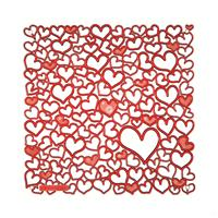 VedoNonVedo Palpitatio decorative element for furnishing and dividing rooms - transparent red