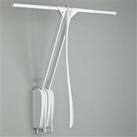 Otto Closet Pro Wall-mounted pull down rail - white-white