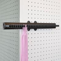 Pull-out tie rack - 32 hooks - brown-brown