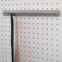 Takataka - portacravatte fisso - 25 ganci - grigio