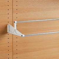 Tac - extendable wall-mounted shoe rack - white-bright aluminium