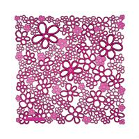 VedoNonVedo Vale decorative element for furnishing and dividing rooms - transparent fuchsia